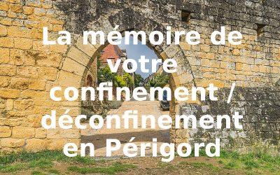 La mémoire de votre confinement / déconfinement : racontez !